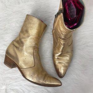 Sigerson Morrison Eranthe Metallic Leather Bootie